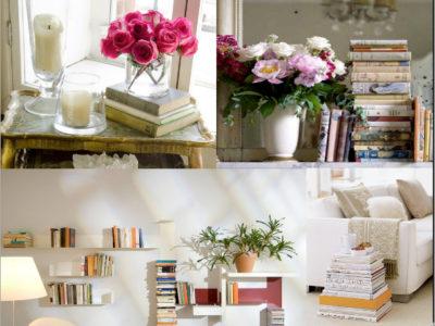 Incluye en la decoración los libros