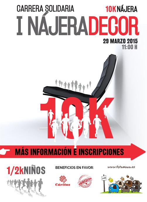 Carrera solidaria NAJERA DECOR 10K – 29 Marzo