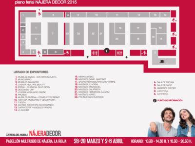 Plano de expositores de la Feria.