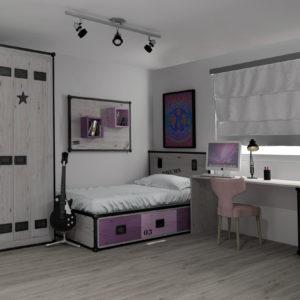 Ambiente Rock dormitorio