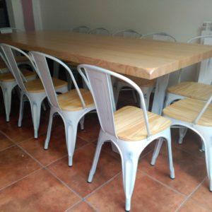 Mesa vintage forja-madera (blanco)